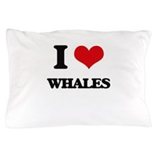 I Love Whales Pillow Case