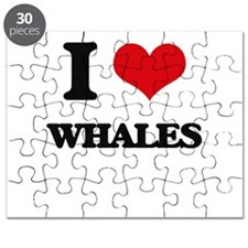 I Love Whales Puzzle