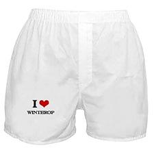 I Love Winthrop Boxer Shorts