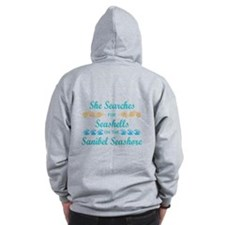 Sanibel shelling Zip Hoody