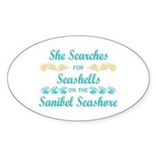 Sanibel shelling Decal