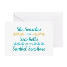 Sanibel shelling Greeting Card
