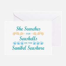 Sanibel shelling Greeting Card