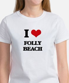 I Love Folly Beach T-Shirt