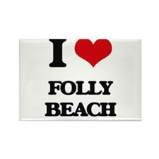 I Love Folly Beach Magnets