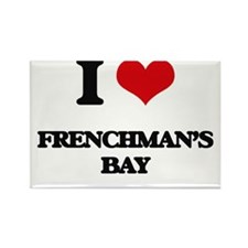 I Love Frenchman'S Bay Magnets