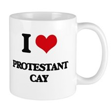I Love Protestant Cay Mugs