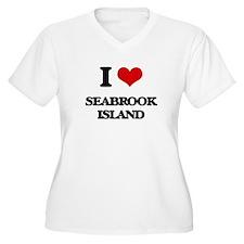 I Love Seabrook Island Plus Size T-Shirt