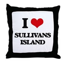 I Love Sullivans Island Throw Pillow