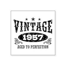 "Vintage 1957 Square Sticker 3"" x 3"""