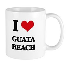 I Love Guata Beach Mugs