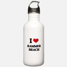 I Love Kammer Beach Water Bottle
