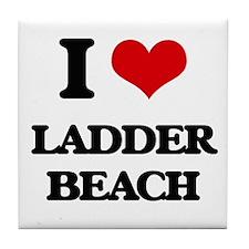 I Love Ladder Beach Tile Coaster
