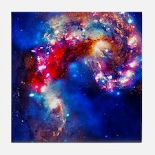 Colorful Cosmos Tile Coaster