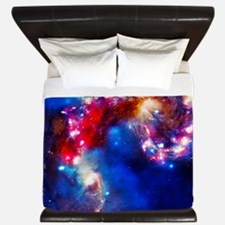 Colorful Cosmos King Duvet