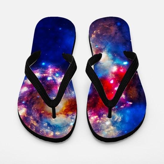 Colorful Cosmos Flip Flops