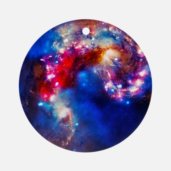 Colorful Cosmos Ornament (Round)