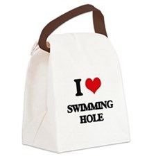 I Love Swimming Hole Canvas Lunch Bag