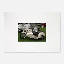 BMW Motorcycle with Sidecar 5'x7'Area Rug