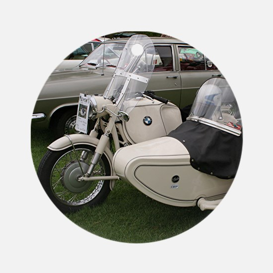 BMW Motorcycle with Sidecar Ornament (Round)