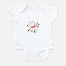 pink jellybean blowout 2 Infant Bodysuit