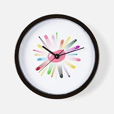 pink jellybean blowout 2 Wall Clock