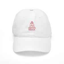 Keep calm you live in Lebanon Indiana Cap