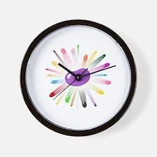 purple jellybean blowout 2 Wall Clock