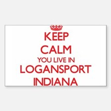 Keep calm you live in Logansport Indiana Decal