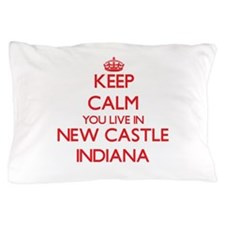Keep calm you live in New Castle India Pillow Case
