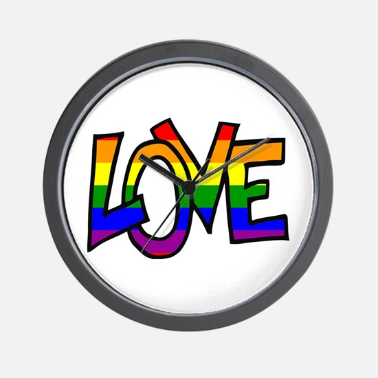 Rainbow Pride Love Wall Clock