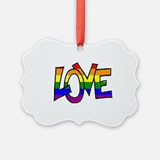 Rainbow Pride Love Ornament