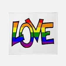Rainbow Pride Love Throw Blanket