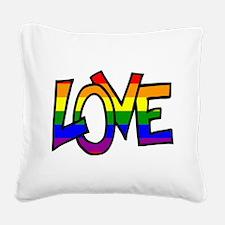 Rainbow Pride Love Square Canvas Pillow