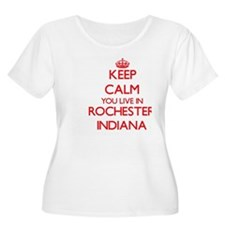 Keep calm you live in Rochester Plus Size T-Shirt