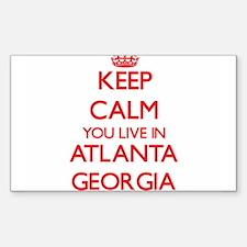Keep calm you live in Atlanta Georgia Decal