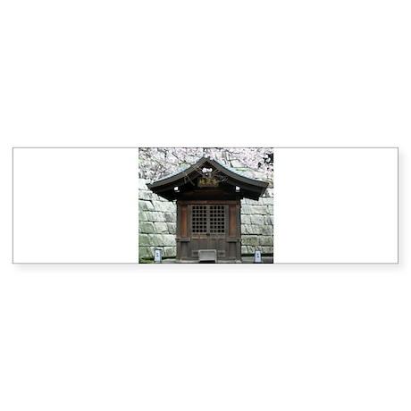 Cherry Blossoms and Shrine in Bumper Sticker
