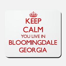 Keep calm you live in Bloomingdale Georg Mousepad