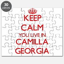 Keep calm you live in Camilla Georgia Puzzle