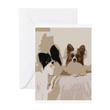Papillon Abstract Greeting Cards
