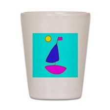 Blue Sailing Peaceful Sailboat for Eric Shot Glass