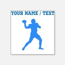 Custom Blue Quarterback Sticker