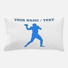Custom Blue Quarterback Pillow Case