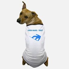 Custom Blue Snowboarder Dog T-Shirt