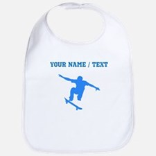 Custom Blue Skateboarder Bib