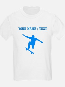 Custom Blue Skateboarder T-Shirt