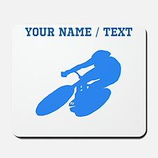 Custom Blue Cyclist Mousepad