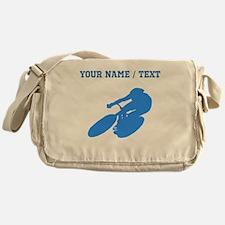 Custom Blue Cyclist Messenger Bag