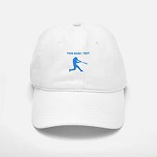 Custom Blue Baseball Batter Baseball Baseball Baseball Cap
