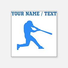 Custom Blue Baseball Batter Sticker